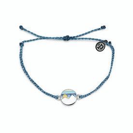 Pura Vida Pura Vida Charm Bracelet Twin Peaks - Dusty Blue/Silver
