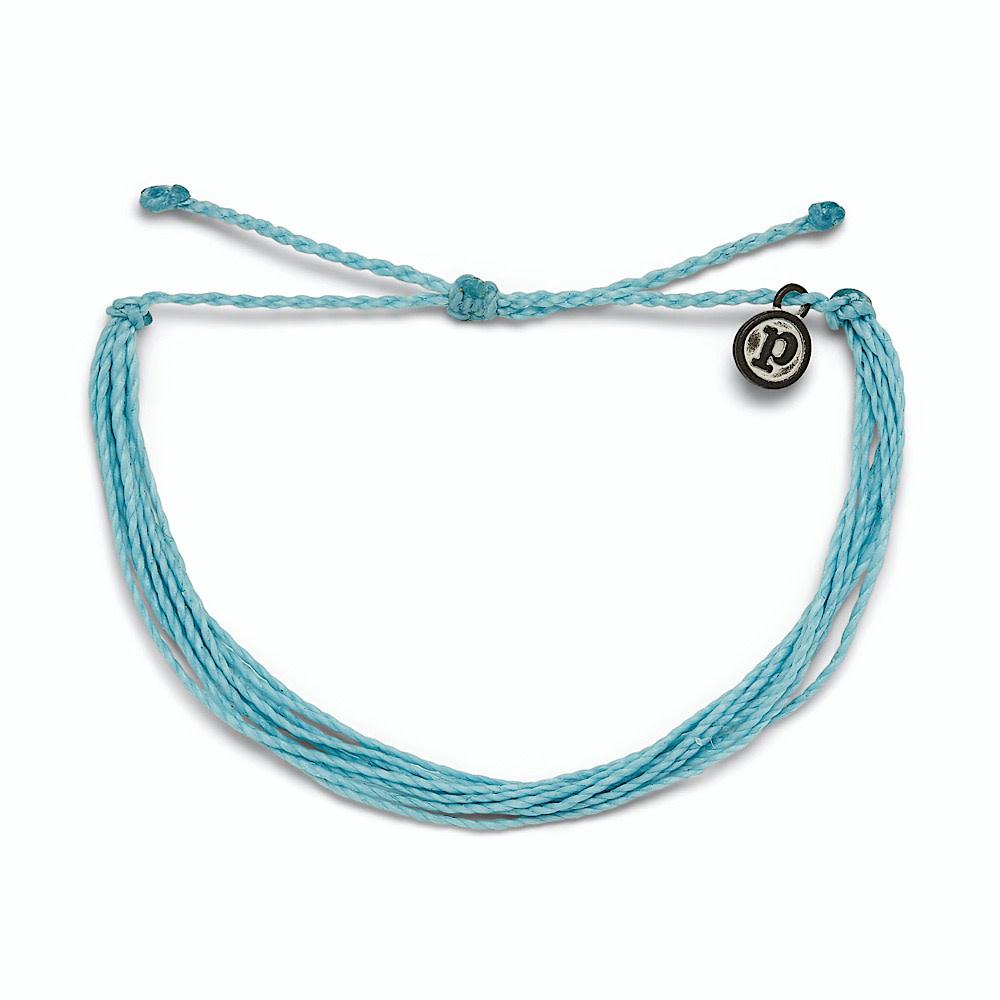 Pura Vida Original Bracelet - Classic Crystal Blue Solid