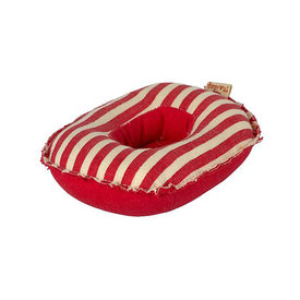 Maileg Maileg Mouse - Small Rubber Boat - Red Stripe
