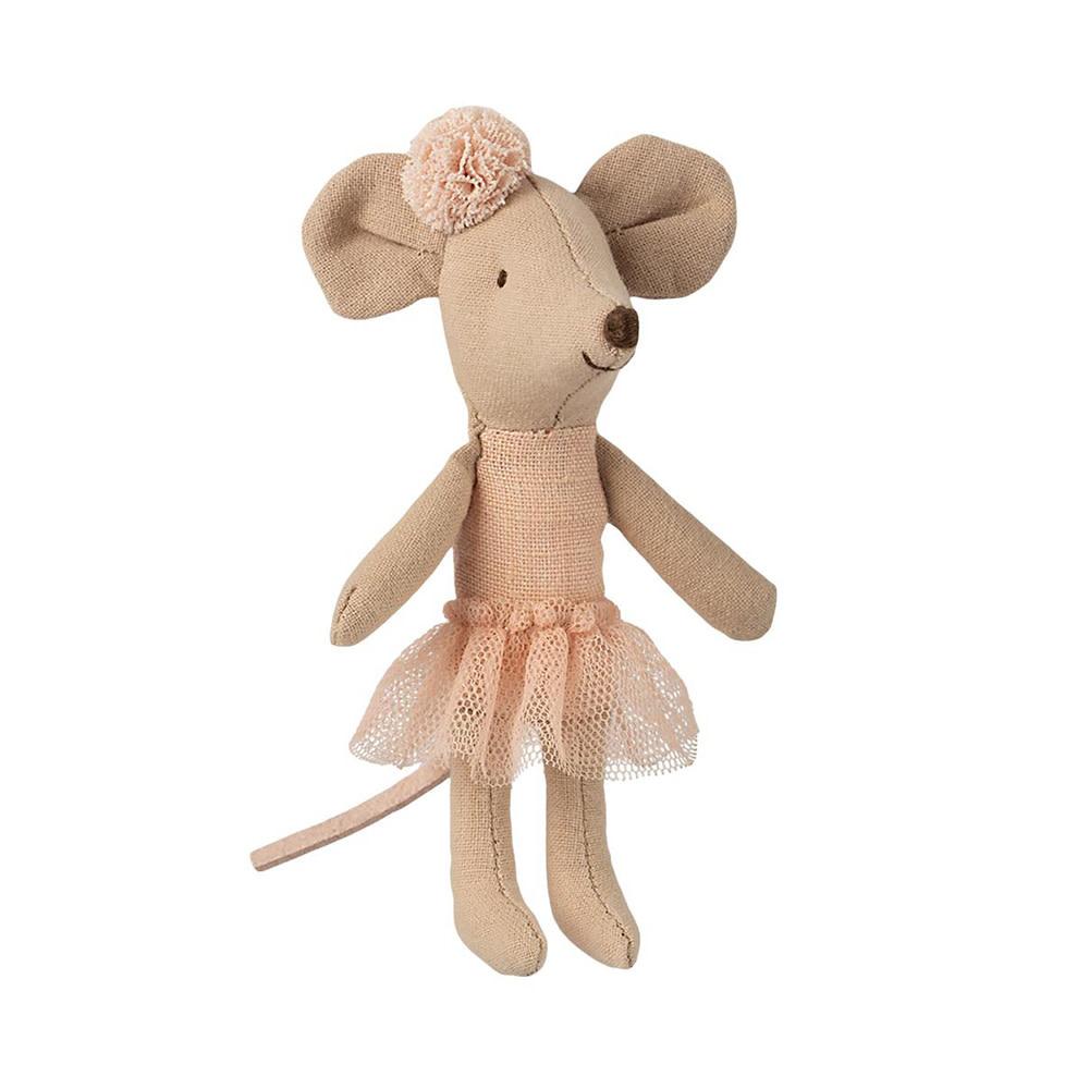 Maileg Maileg Mouse - Little Sister - Ballerina with Pom Pom