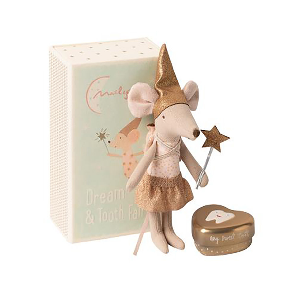 Maileg Maileg Mouse - Big Sister with Metal Star - Gold Tooth Fairy