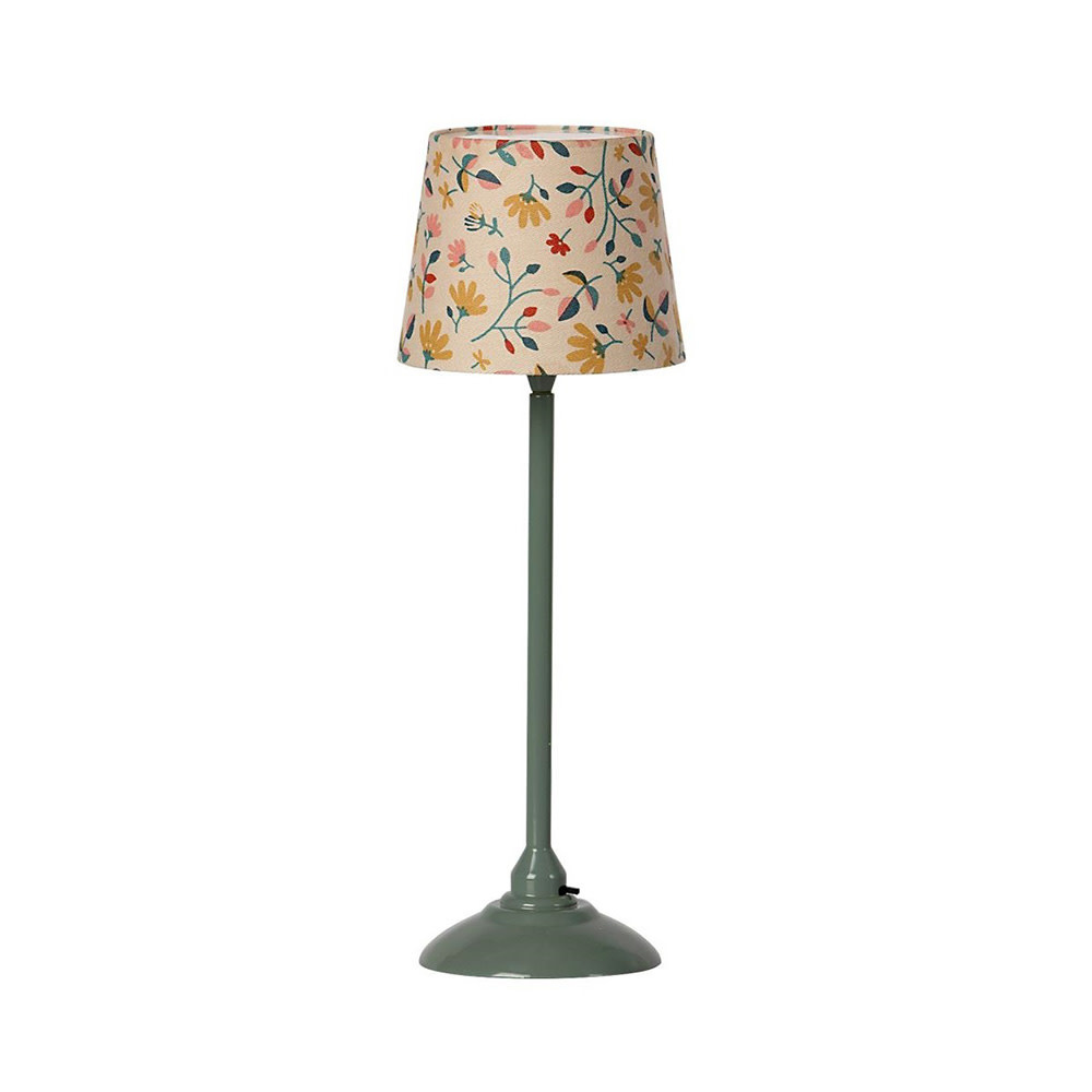 Maileg Maileg Miniature Floor Lamp - Dark Mint