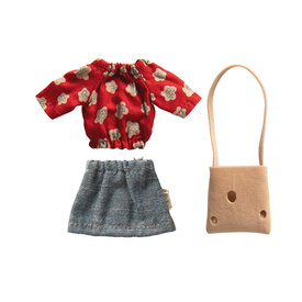 Maileg Maileg Mouse - Clothes for Mum Mouse - Red Blouse