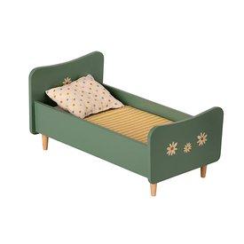 Maileg Maileg Wooden Bed, Mini - Mint Blue
