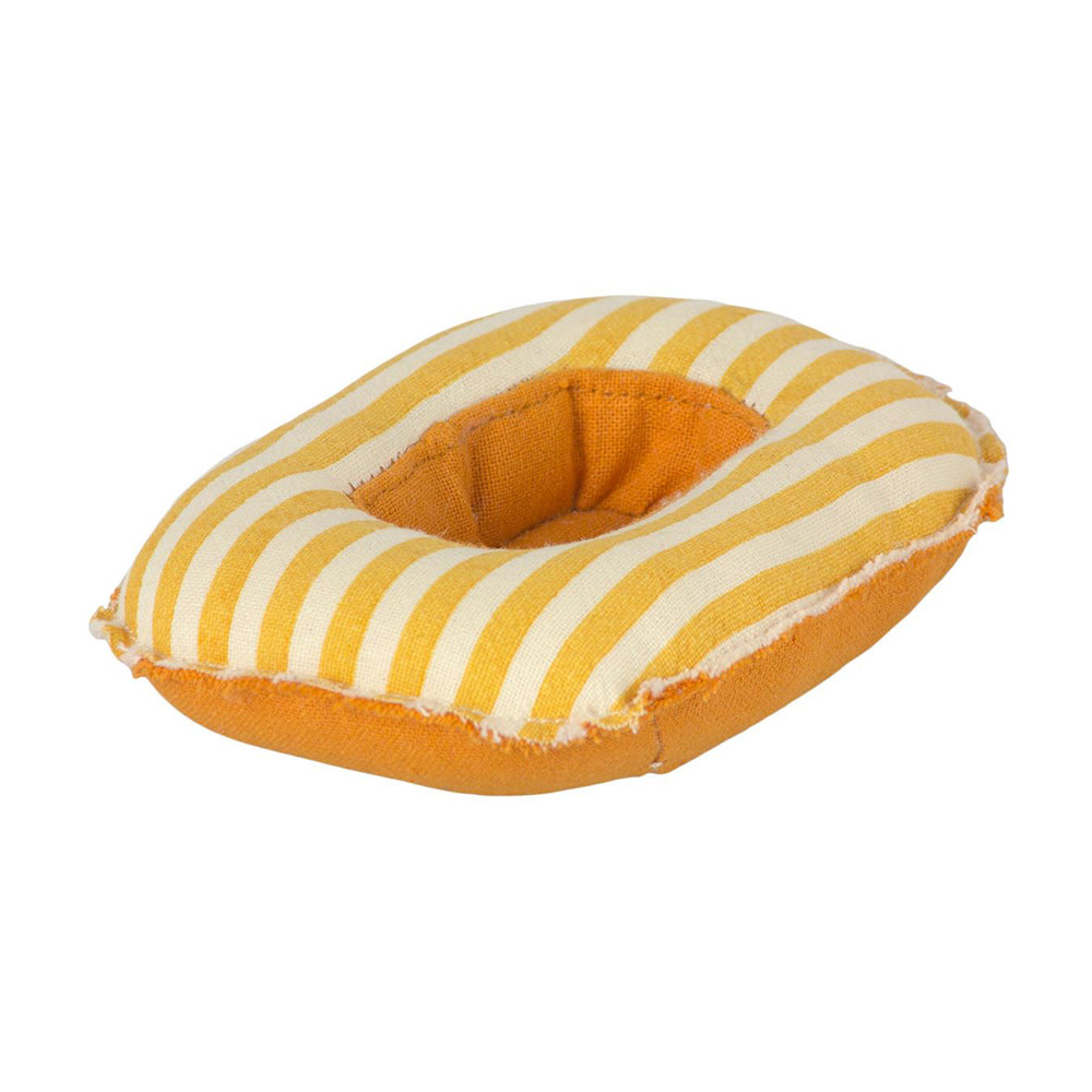 Maileg Maileg Mouse - Small Rubber Boat - Yellow Stripe