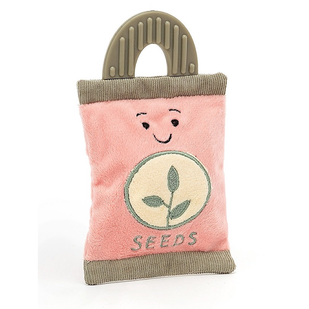 Jellycat Whimsy Garden Seed Packet Rattle - 5 Inches