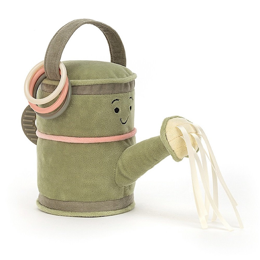Jellycat Whimsy Garden Watering Can Activity Toy - 7 Inches