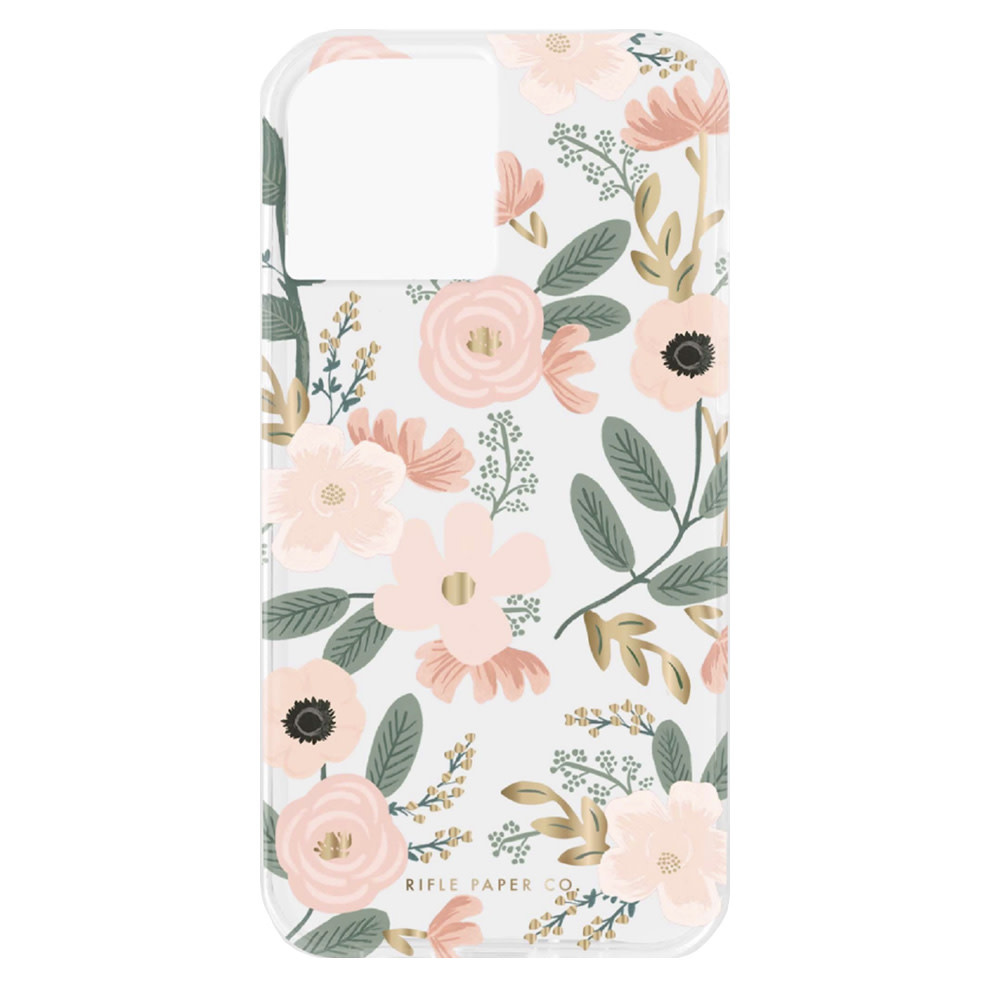 Rifle Paper Co. Rifle Paper Co. iPhone 12/12 Pro Case - Clear Wildflowers