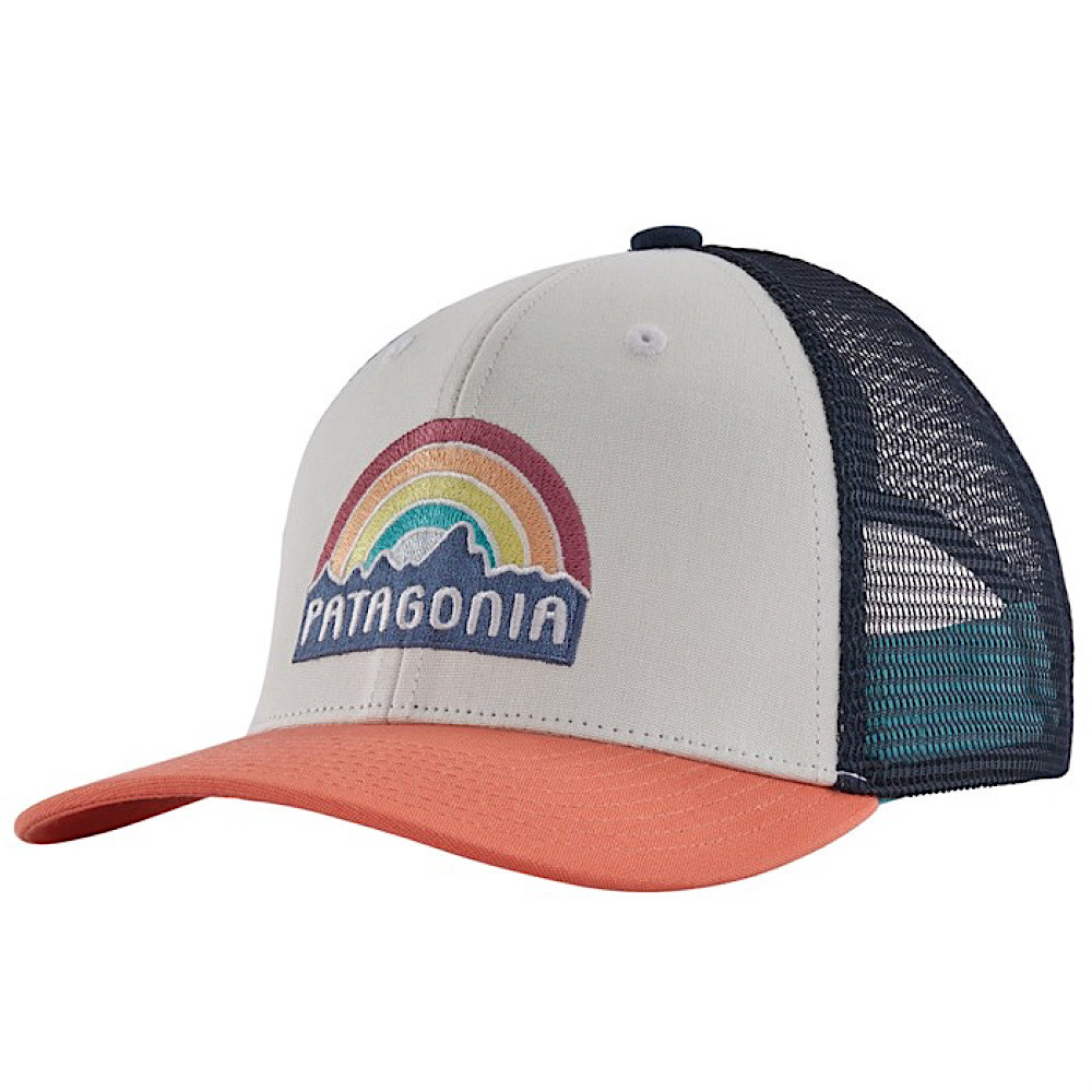 Patagonia Patagonia Trucker Hat Kids - Fitz Roy Rainbow - Coho Coral