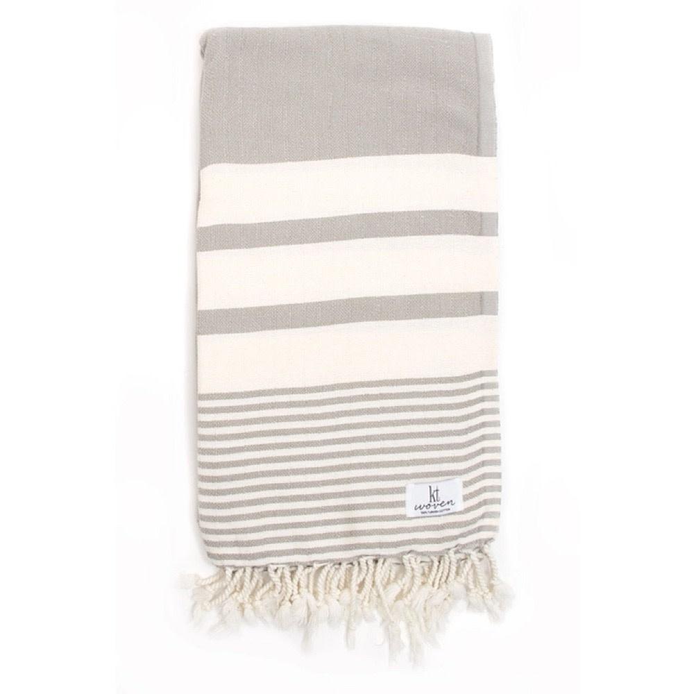 KT Woven - Stripe Turkish Towel - Taupe
