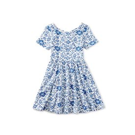 Tea Collection Tea Collection - Ballet Skirted Dress - Floral Azulejos