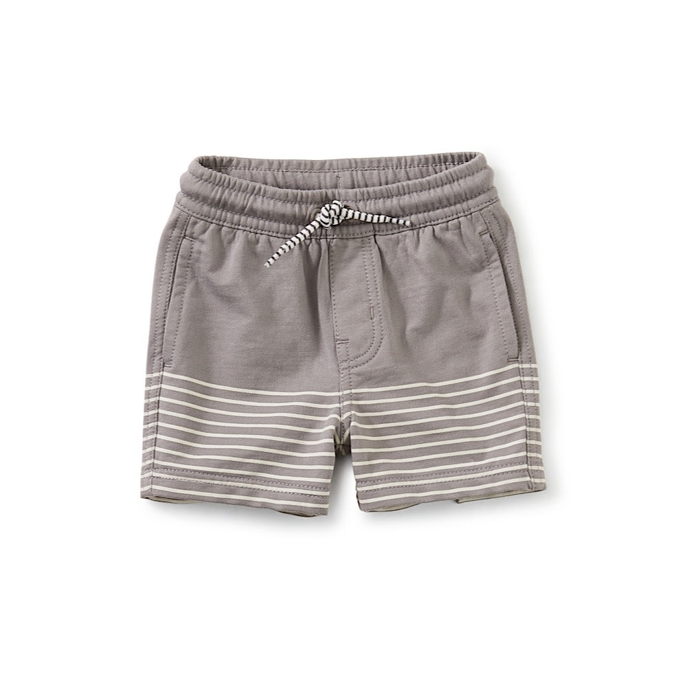 Tea Collection - Knit Beach Baby Shorts - Grout