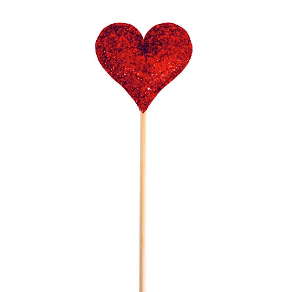 Bailey & Ava Bailey & Ava Red Glitter Sparkle Heart Wand