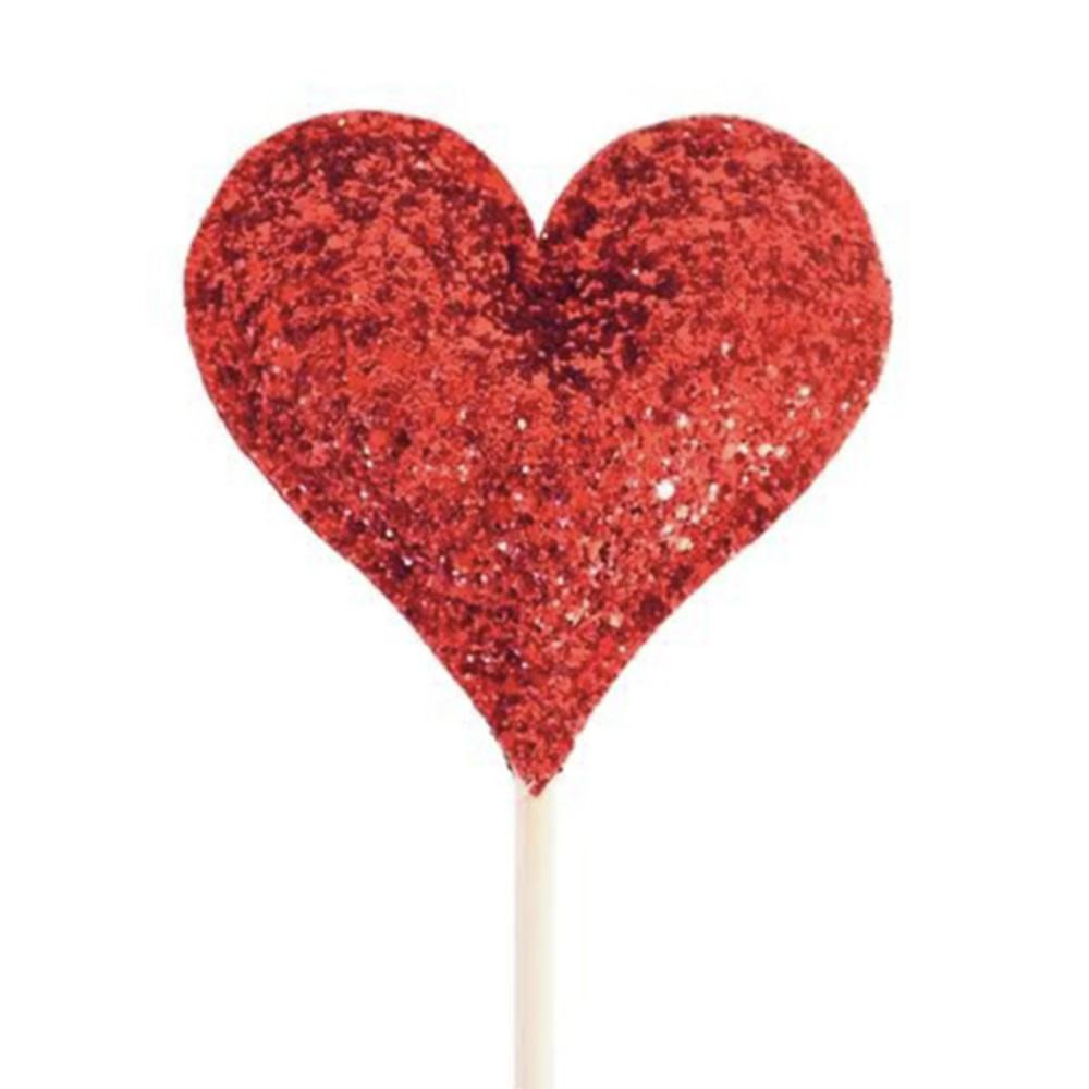 Bailey & Ava Red Glitter Sparkle Heart Wand
