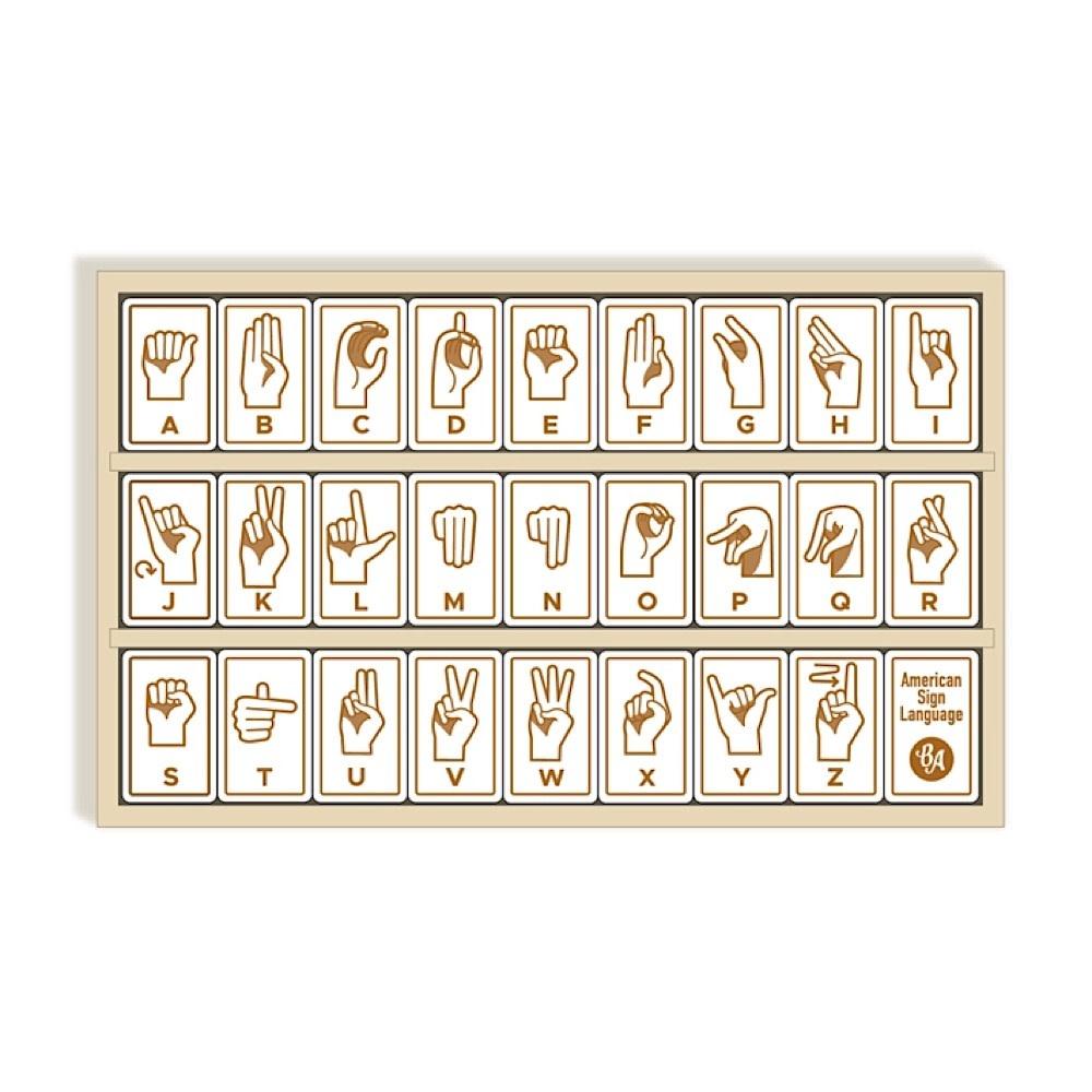 Begin Again Sign Language Alphabet Tiles