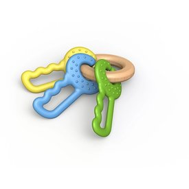 BeginAgain Begin Again Green Keys Clutching & Teething Toy