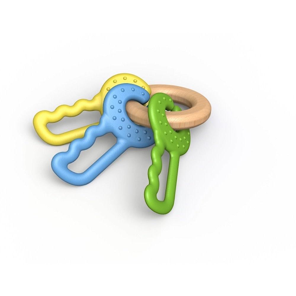 BeginAgain Begin Again Green Keys Clutching & Teething Toy