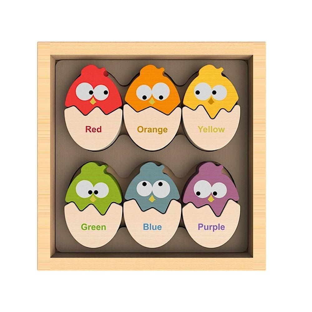 BeginAgain Begin Again Color 'N Eggs - Bilingual Matching Puzzle