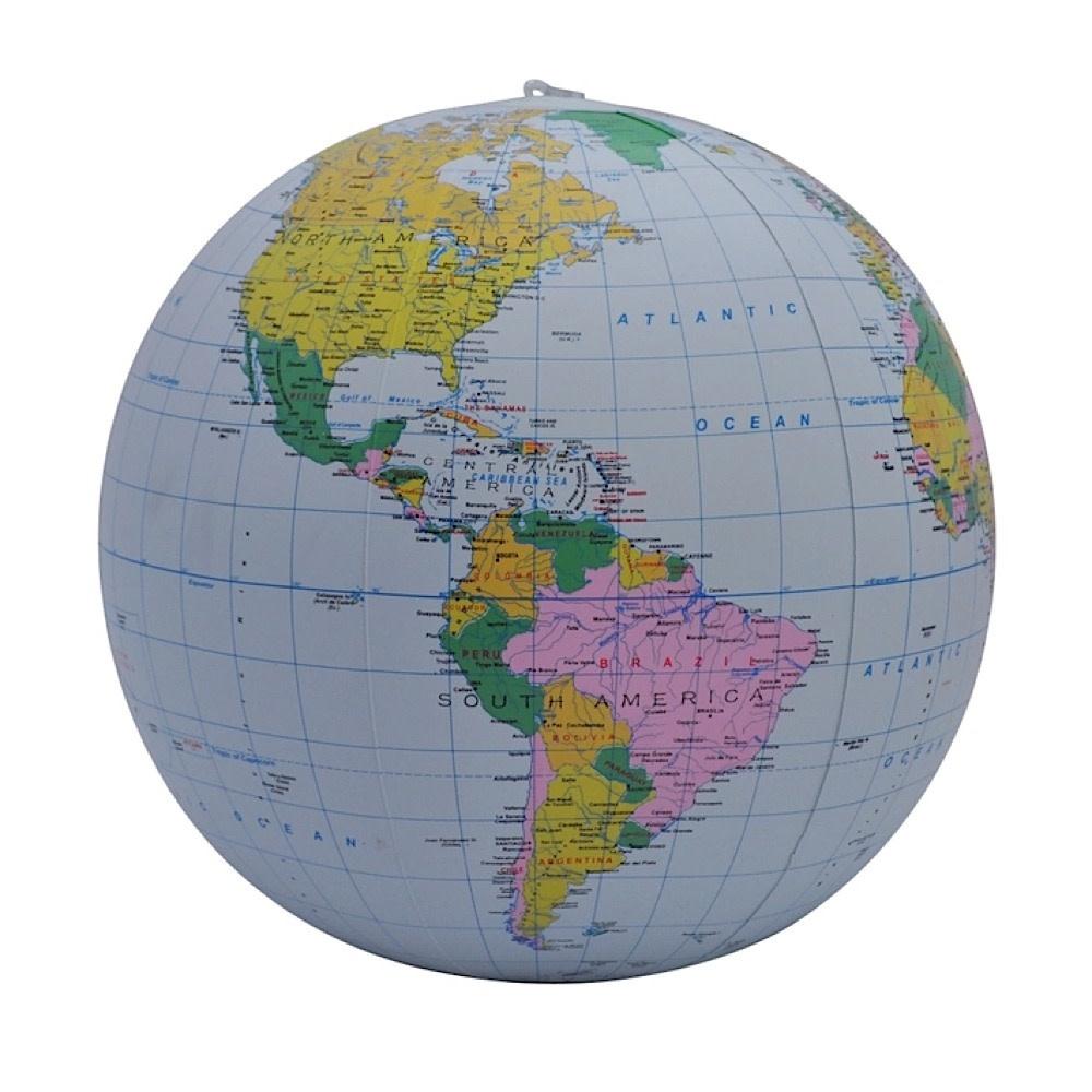"Geotoys Geotoys Inflatable Globe - 12"" Blue"