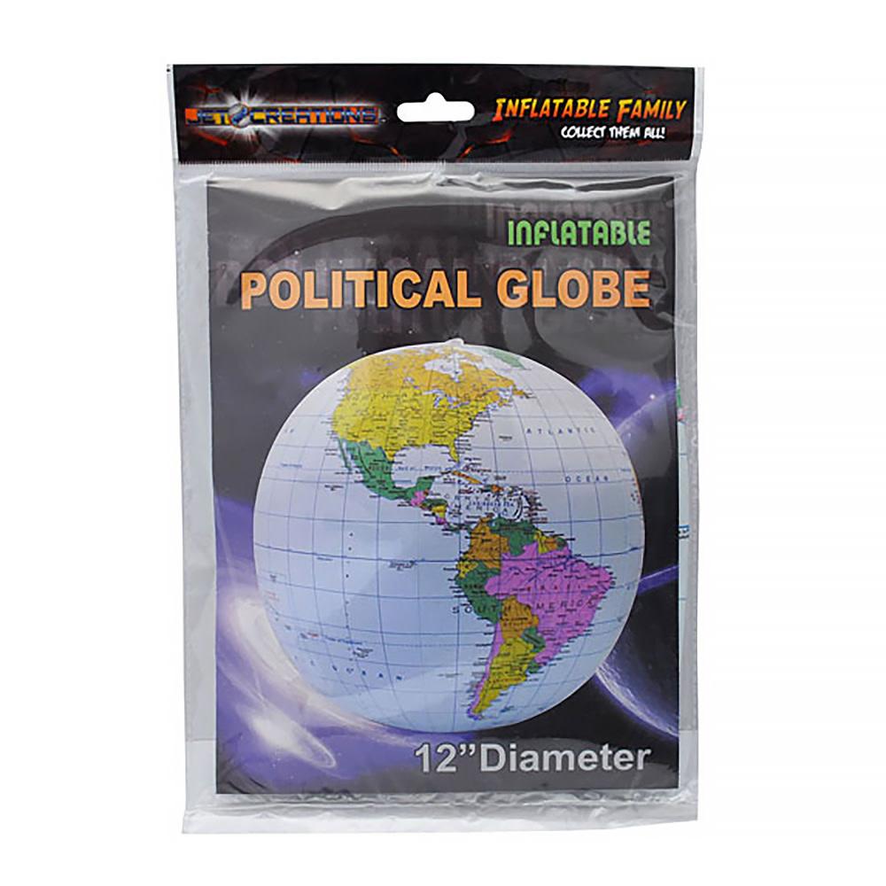 "Geotoys Inflatable Globe - 12"" Blue"