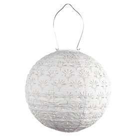 "Allsop Home & Garden Stella Deco Globe - White 12"""