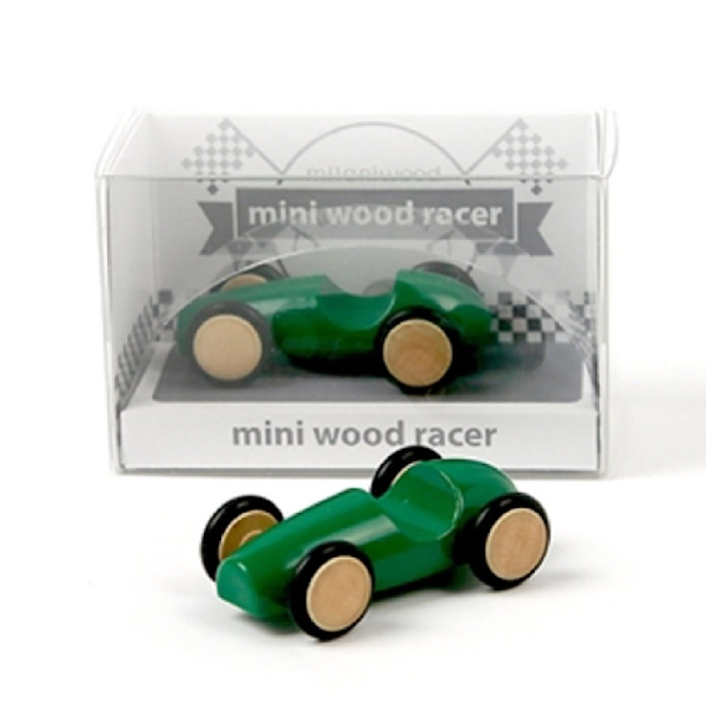 Beyond 123 Mini Wood Racer - Green