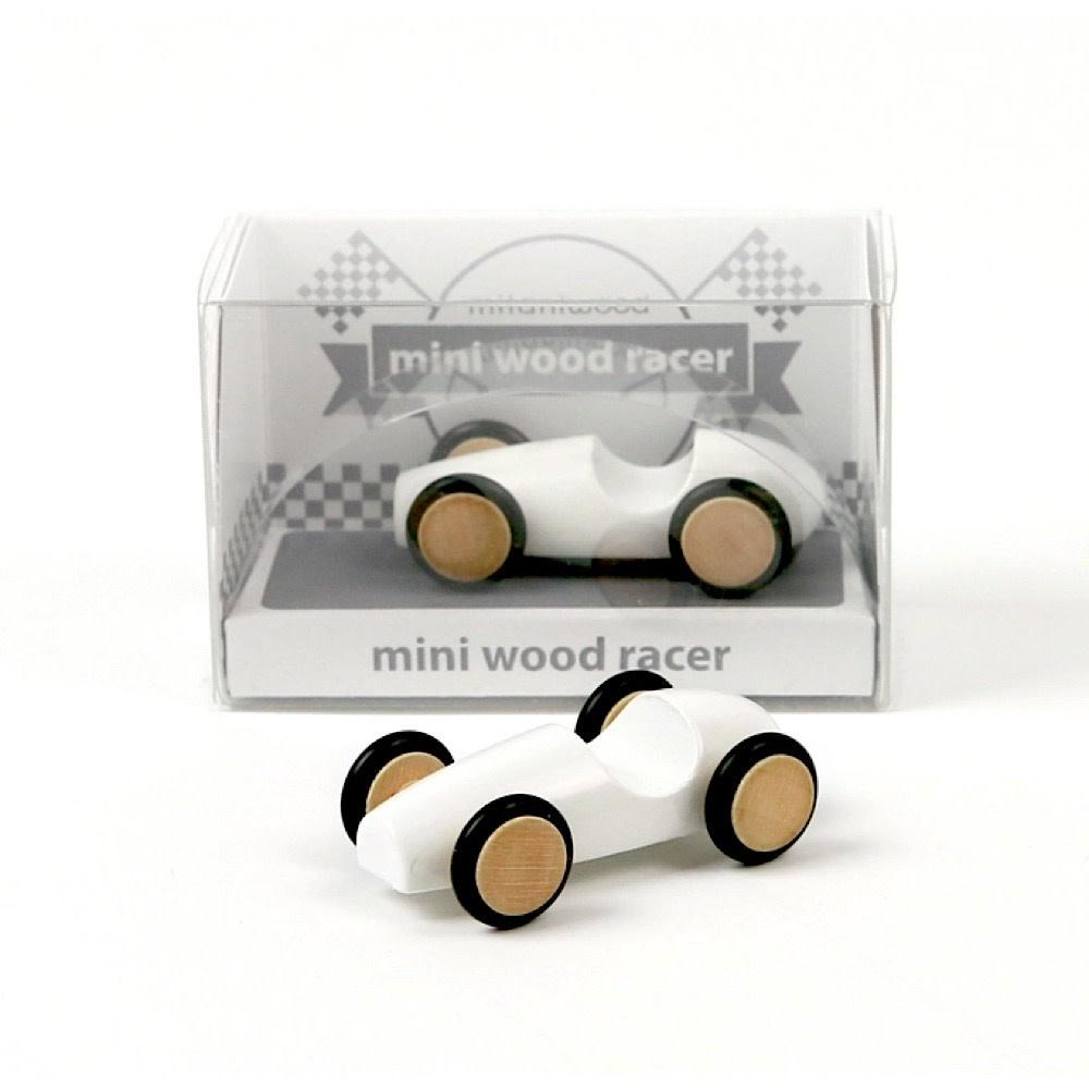 Mini Wood Racer - White