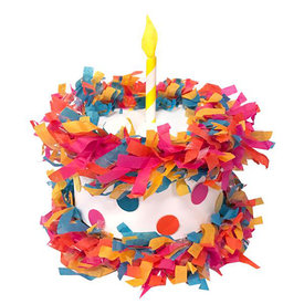 Tops Malibu Tops Malibu Mini Tabletop Pinata - Birthday Cake