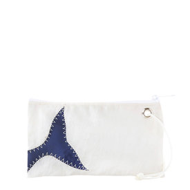 Sea Bags Sea Bags Wristlet - Navy Whale Tail