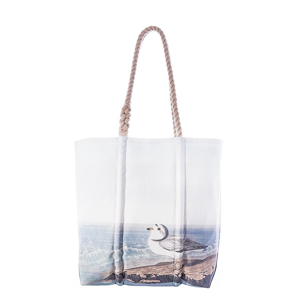 Sea Bags Sea Bags Tote - Piping Plover - Hemp Handles - Medium