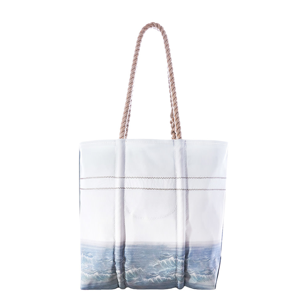 Sea Bags Tote - Piping Plover - Hemp Handles - Medium