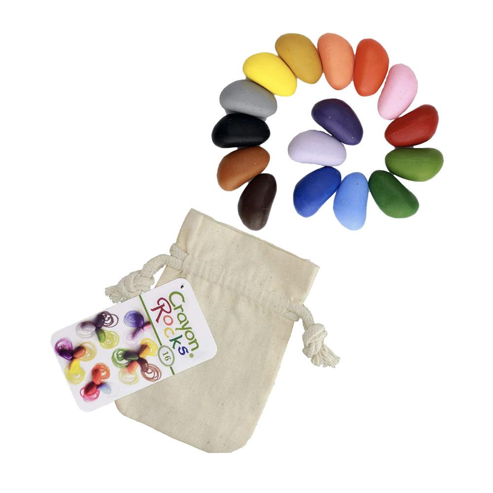 Crayon Rocks - 16 Assorted Colors in Muslin Bag