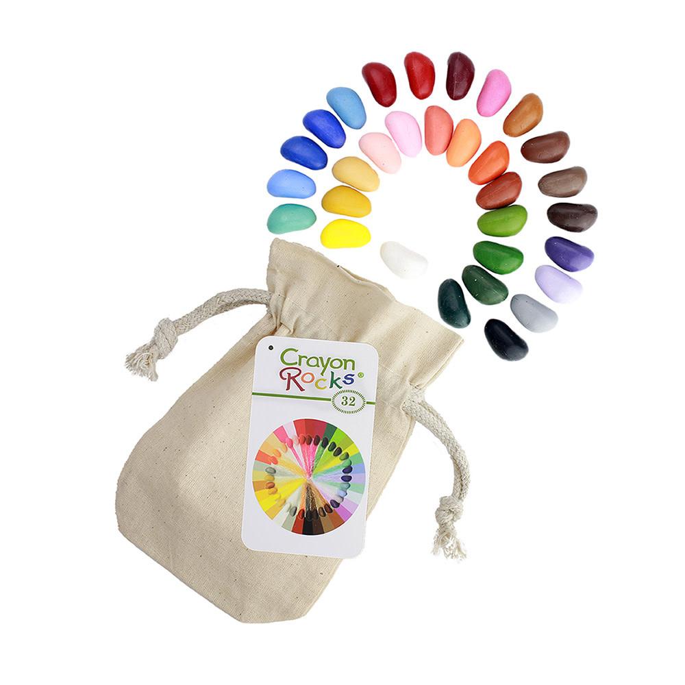 Crayon Rocks - 32 Assorted Colors in Muslin Bag