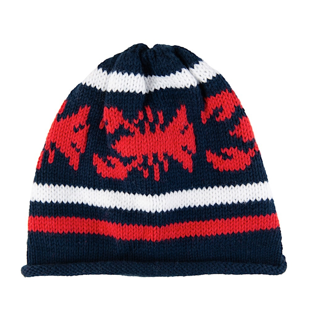 Baloo Baleerie Knit Hat - Lobster - Navy/White/Red