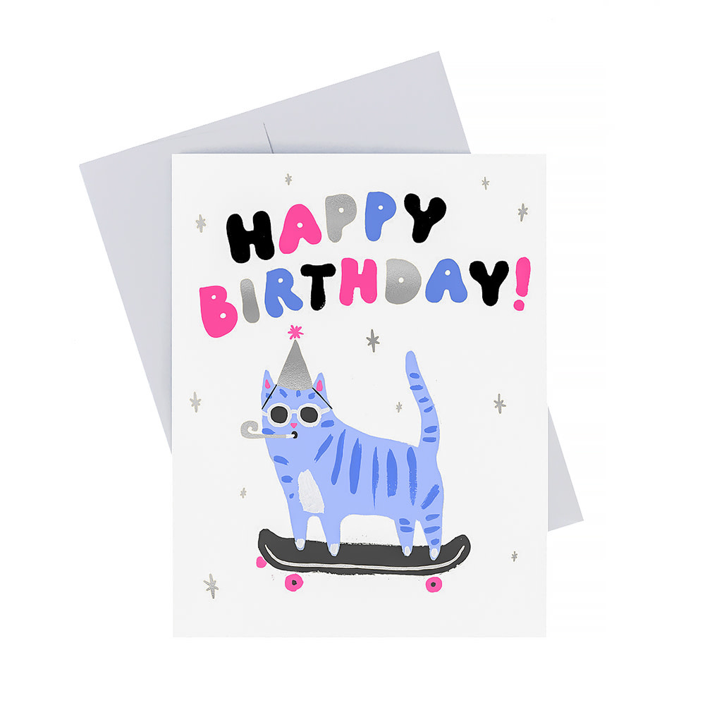 Idlewild Card - Skater Cat