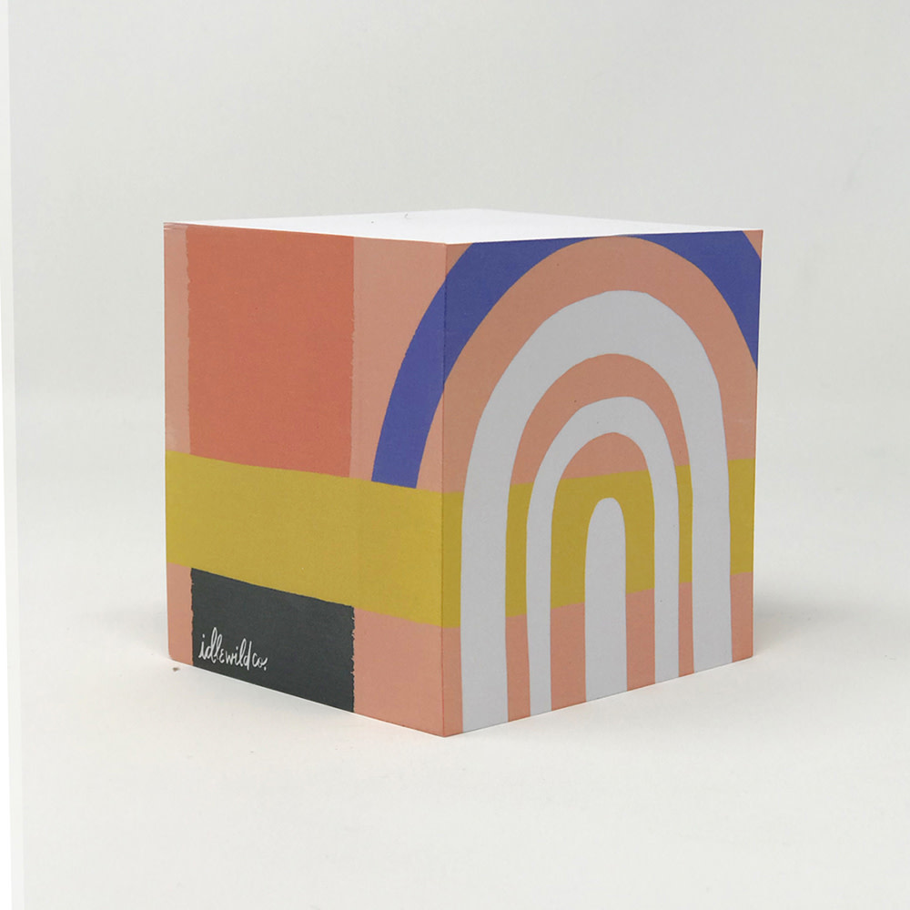 Idlewild Sticky Note Cube - Color Block