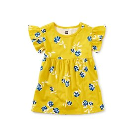 Tea Collection Tea Collection - Ruffle Sleeve Baby Dress - Flower