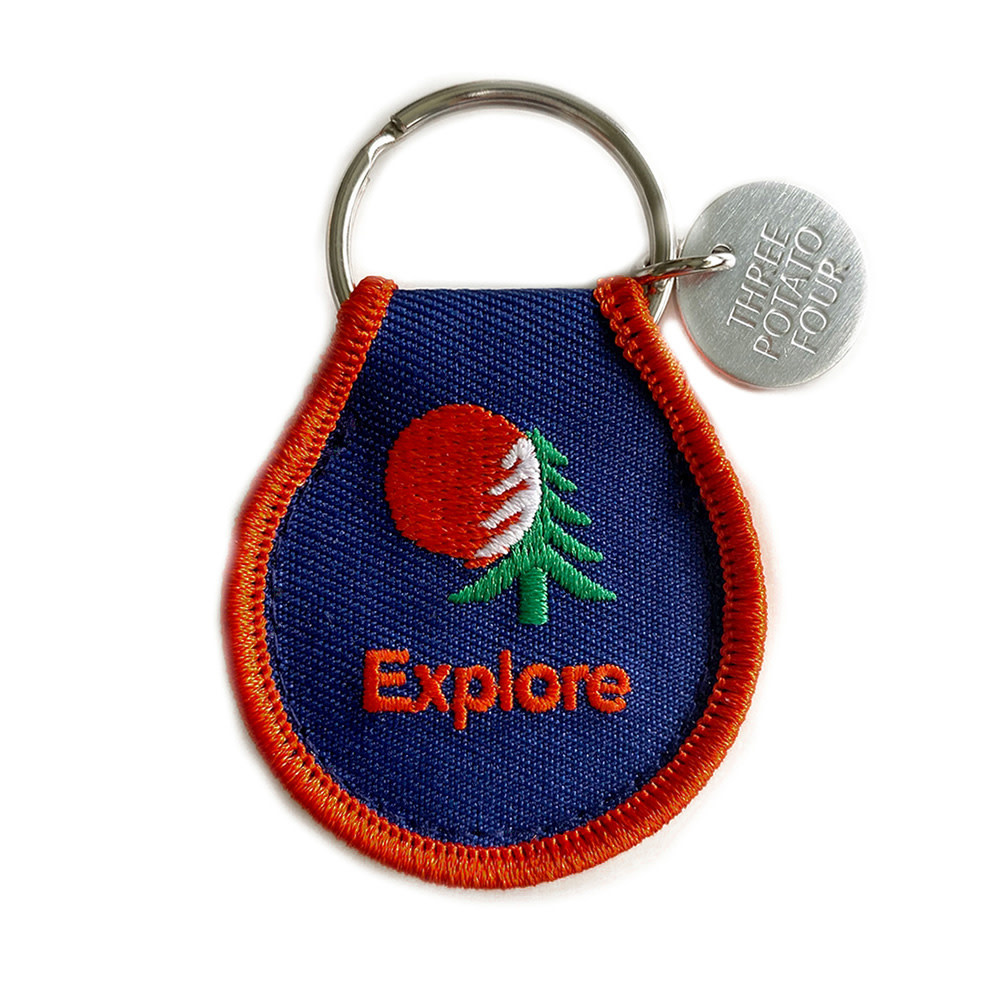 Three Potato Four Three Potato Four Patch Keychain - Explore