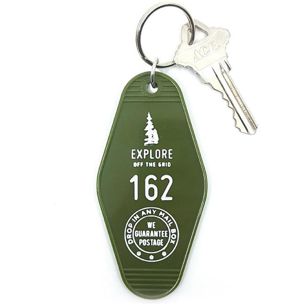 Three Potato Four Key Tag - Explore - Green