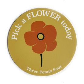 Three Potato Four Three Potato Four Sticker - Pick A Flower