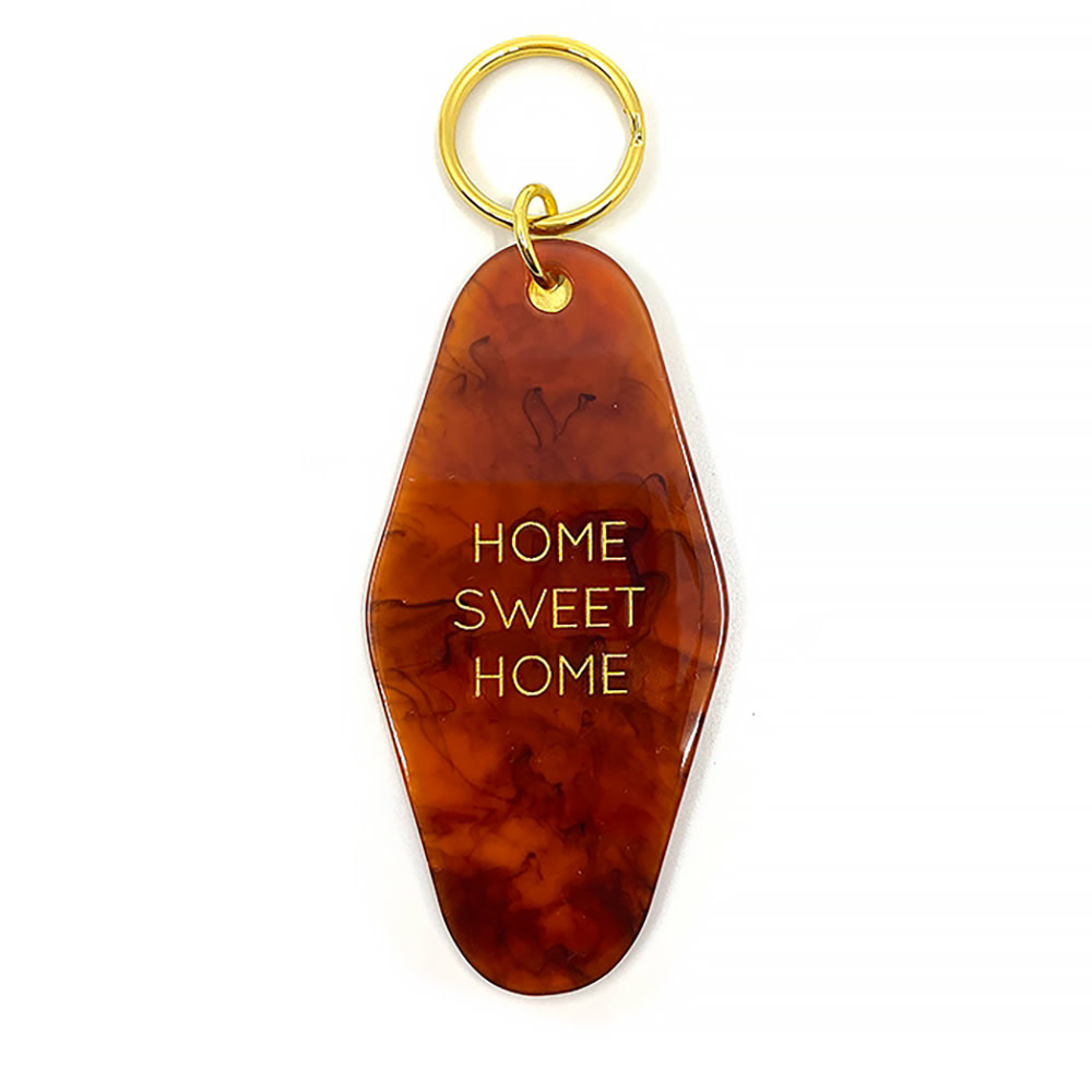 Three Potato Four Key Tag - Home Sweet Home - Tortoise