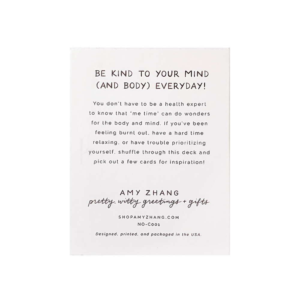 Amy Zhang - Self Care Card Deck
