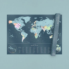 Luckies Scratch Map - World Map - Rainbow