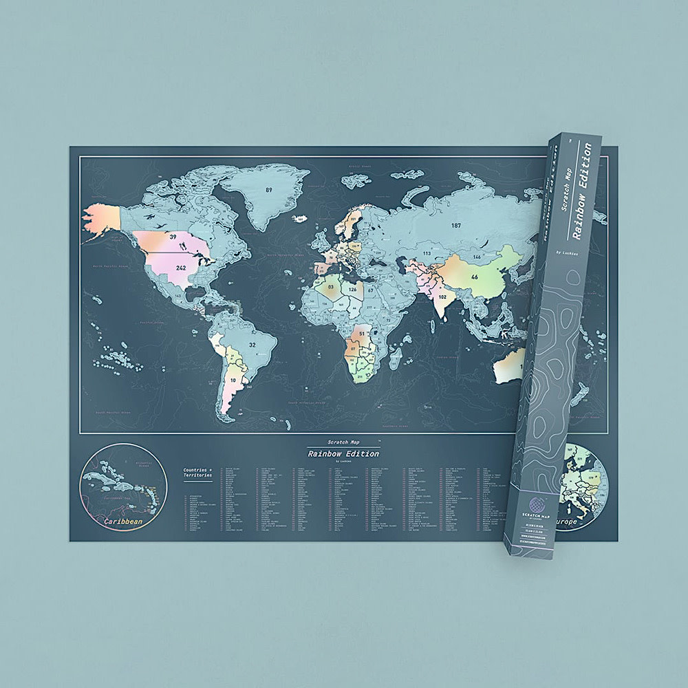 Scratch Map - World Map - Rainbow