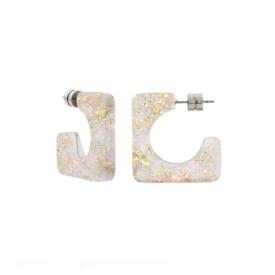Machete Machete - Atlas Hoop Earrings - Glitter