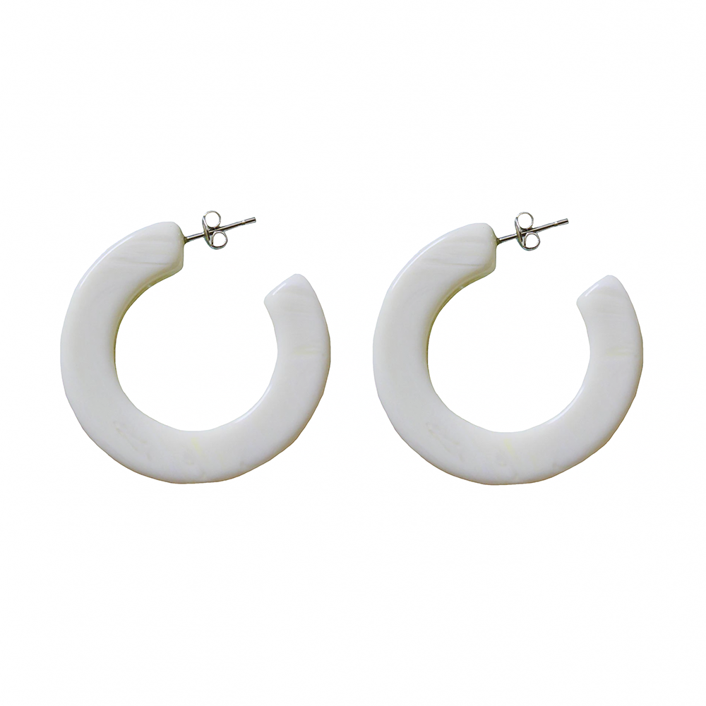 Machete Machete - Kate Hoop Earrings - Carrera Lime