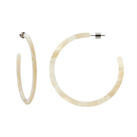 Machete Machete - Large Hoop Earrings - Ivory