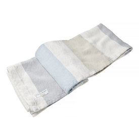 Brahms Mount Brahms Mount - Walker's Point Cotton & Linen Day Blanket - Dove Gray / Oyster / Shore