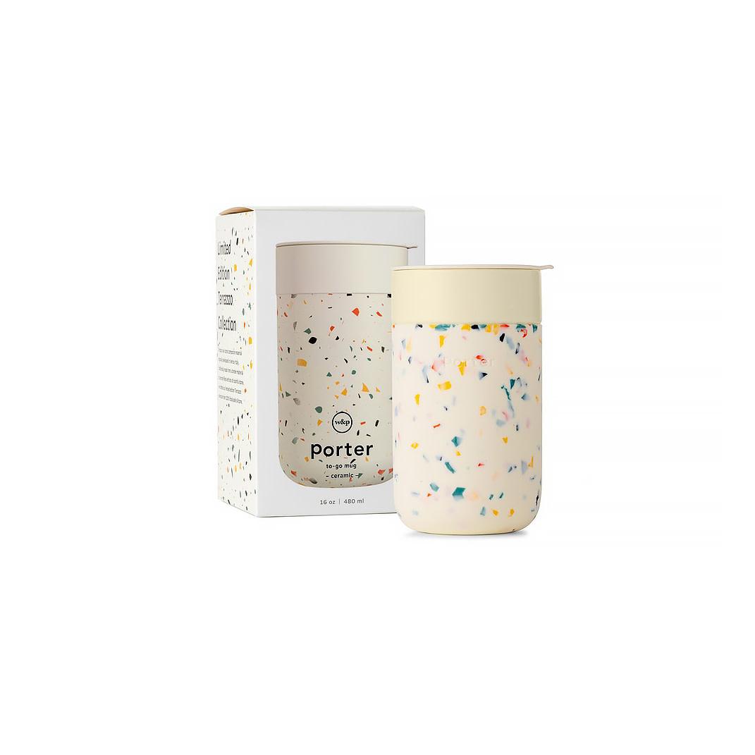Porter Mug Terrazzo 16oz - Cream