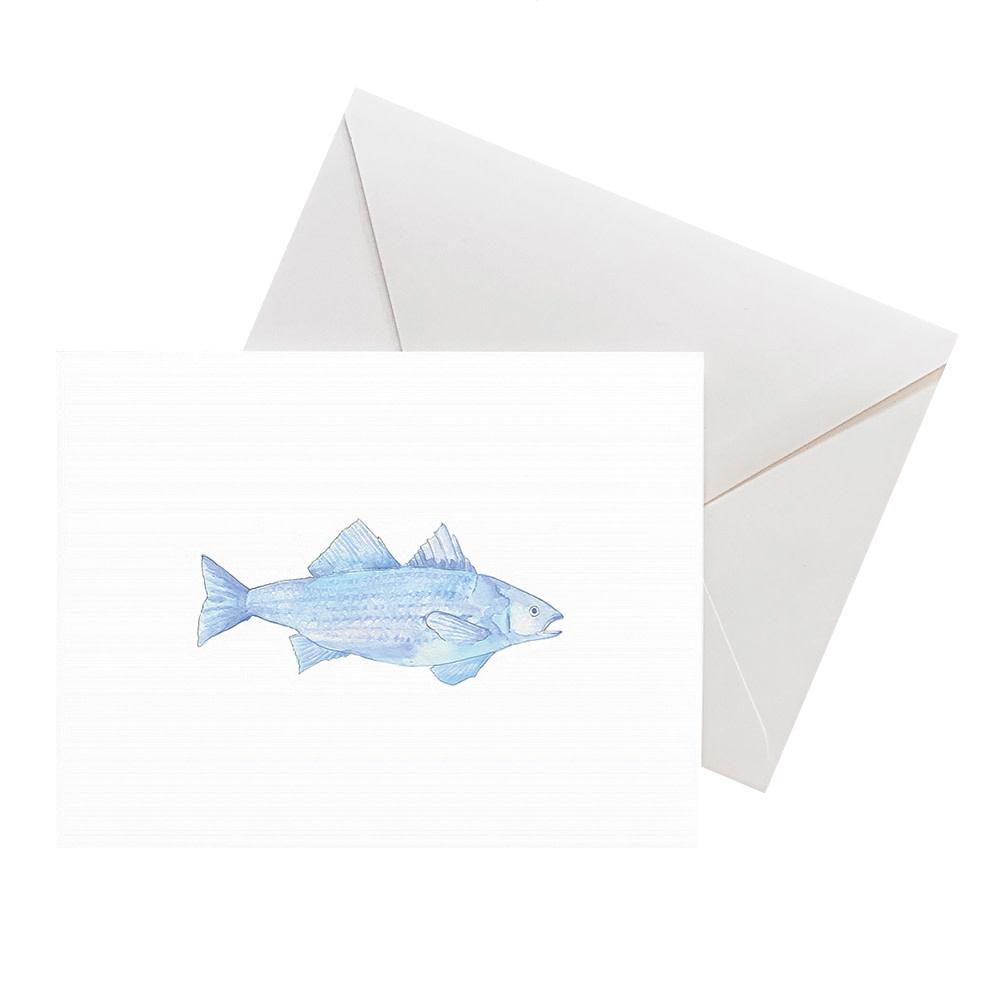 Sara Fitz Card - Blue Fish